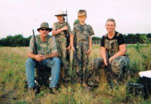 Dove Hunt -- Greg, Molly, Nathan and Missy