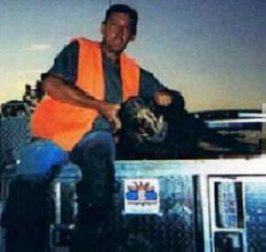 Avon Park Bombing Range -- Greg with his trophy hog taken the last day -- the last walk of dog season