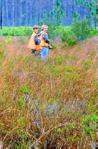 Avon Park Bombing range -- Nate and Missy -- Snipe hunting