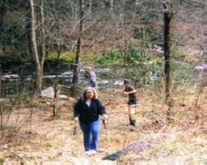 Cherokee NC -- Trout Fishing -- Missy, Nate and Greg