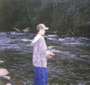 Nathan -- Trout fishing