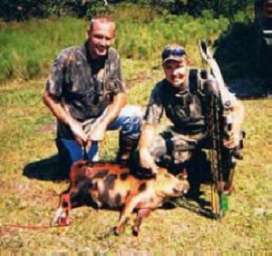 Bombing Range -- Greg and Eugene -- Eugene's hog