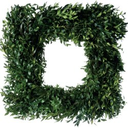 Fresh Boxwood Square Wreath