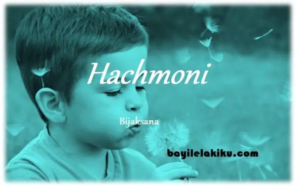 arti nama Hachmoni