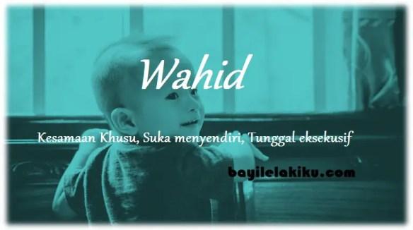 arti nama Wahid