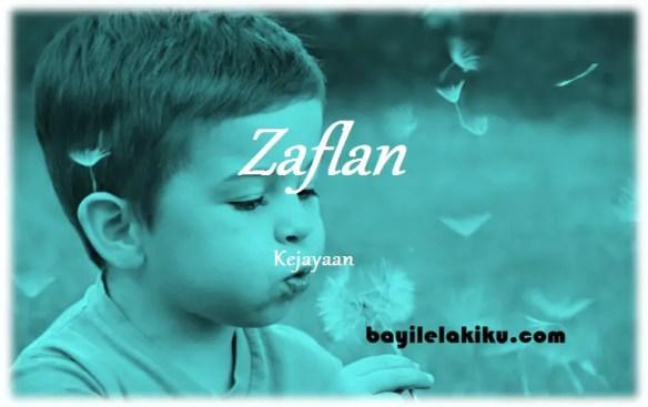 arti nama Zaflan