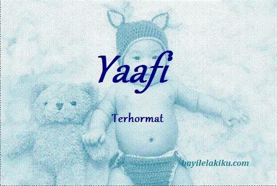 arti nama yaafi