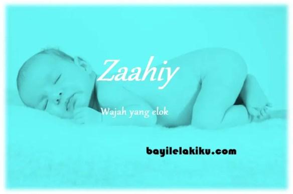 arti nama zaahiy