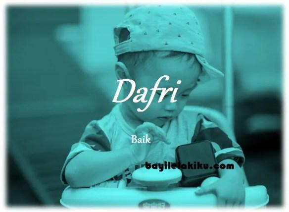arti nama Dafri