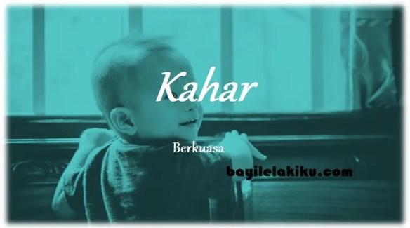 arti nama Kahar