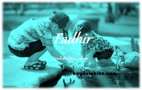 arti nama Fadhir