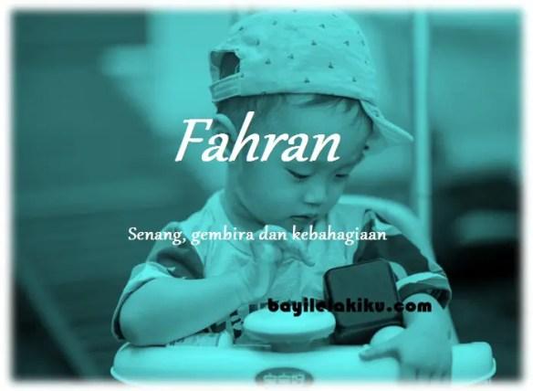 makna nama Fahran