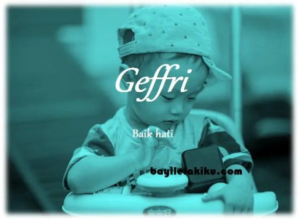 makna nama Geffri