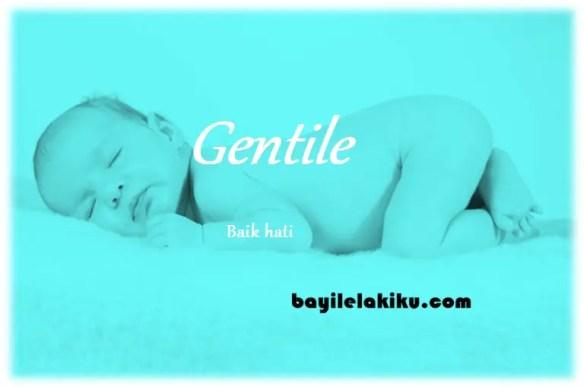 arti nama Gentile