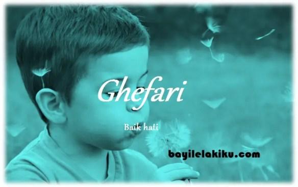 arti nama Ghefari