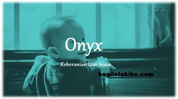 arti nama Onyx