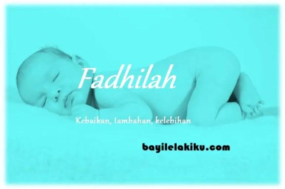 arti nama Fadhilah