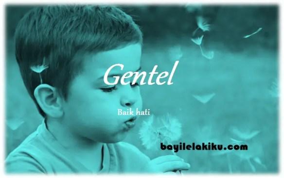 arti nama Gentel