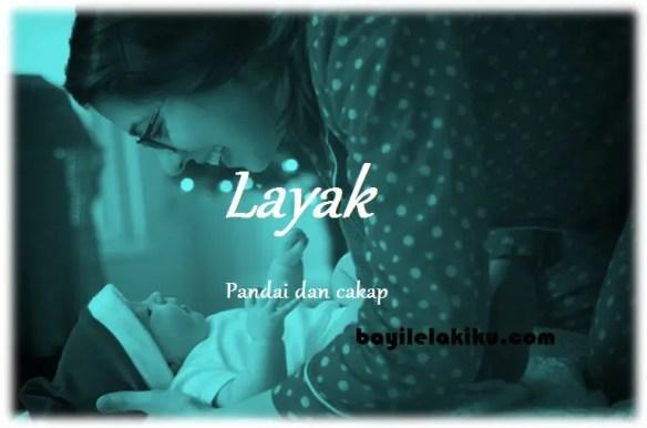 arti nama Layak
