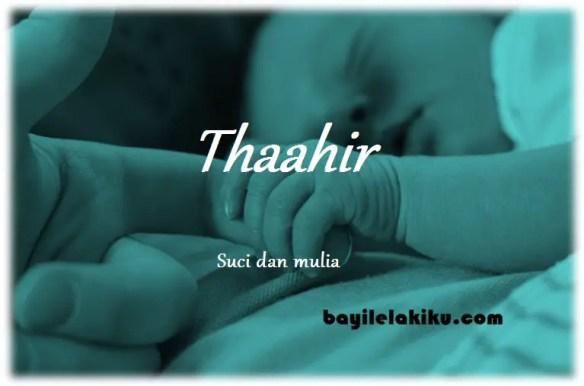 arti nama Thaahir
