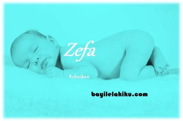 arti nama Zefa