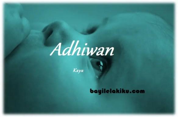 arti nama Adhiwan
