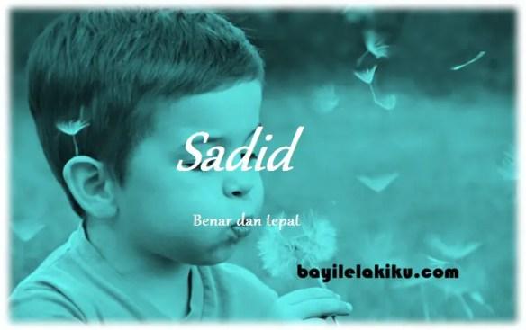 arti nama Sadid