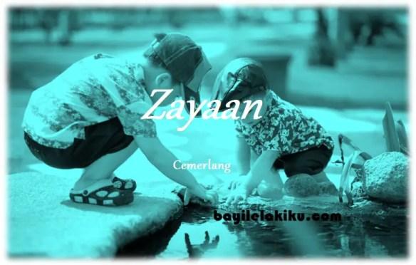 arti nama Zayaan