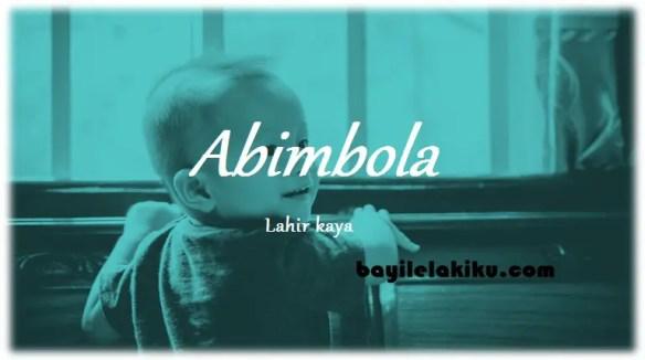 arti nama Abimbola