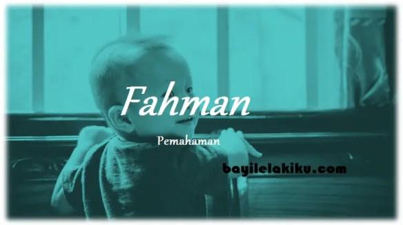 arti nama Fahman