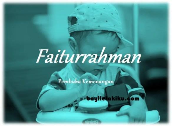 arti nama Faiturrahman
