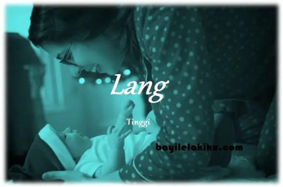 arti nama Lang