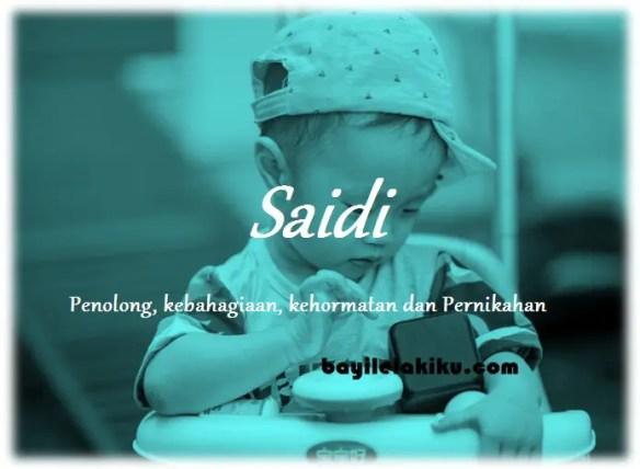 arti nama Saidi