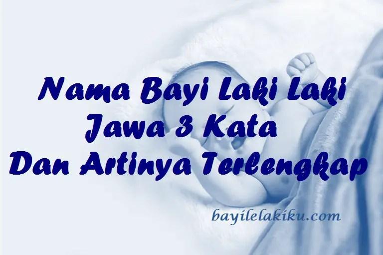 Nama Bayi Laki Laki Jawa 3 Kata Dan Artinya Terlengkap | Bayilelakiku.com |Nama  Bayi Laki Laki Dan Artinya | Islami Kristen Modern