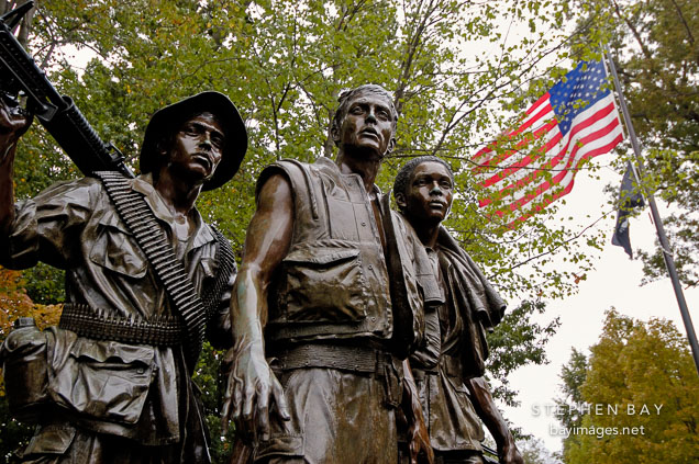 Three Servicemen Statue at the Vietnam Veterans Memorial. Washington, D.C.