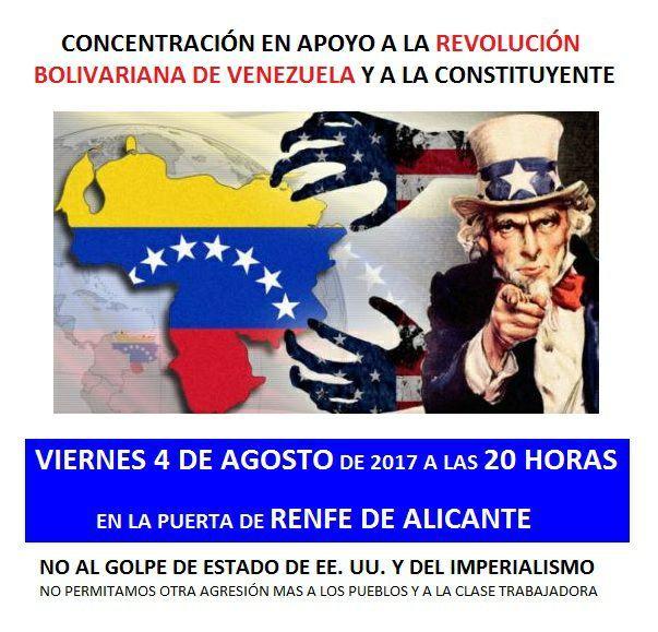 Concentracion de apoyo a la revolucion bolivariana de Venezuela y a la Asamblea Constituyente