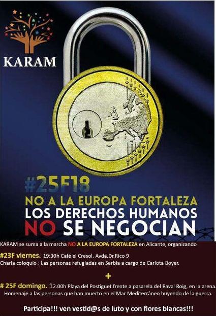 No a la Europa Fortaleza. Los derechos humanos no se negocian.