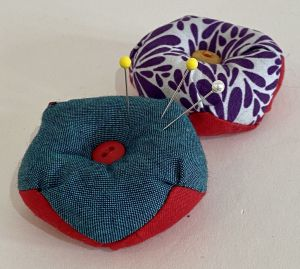 Handmade pincushion from cotton scraps
