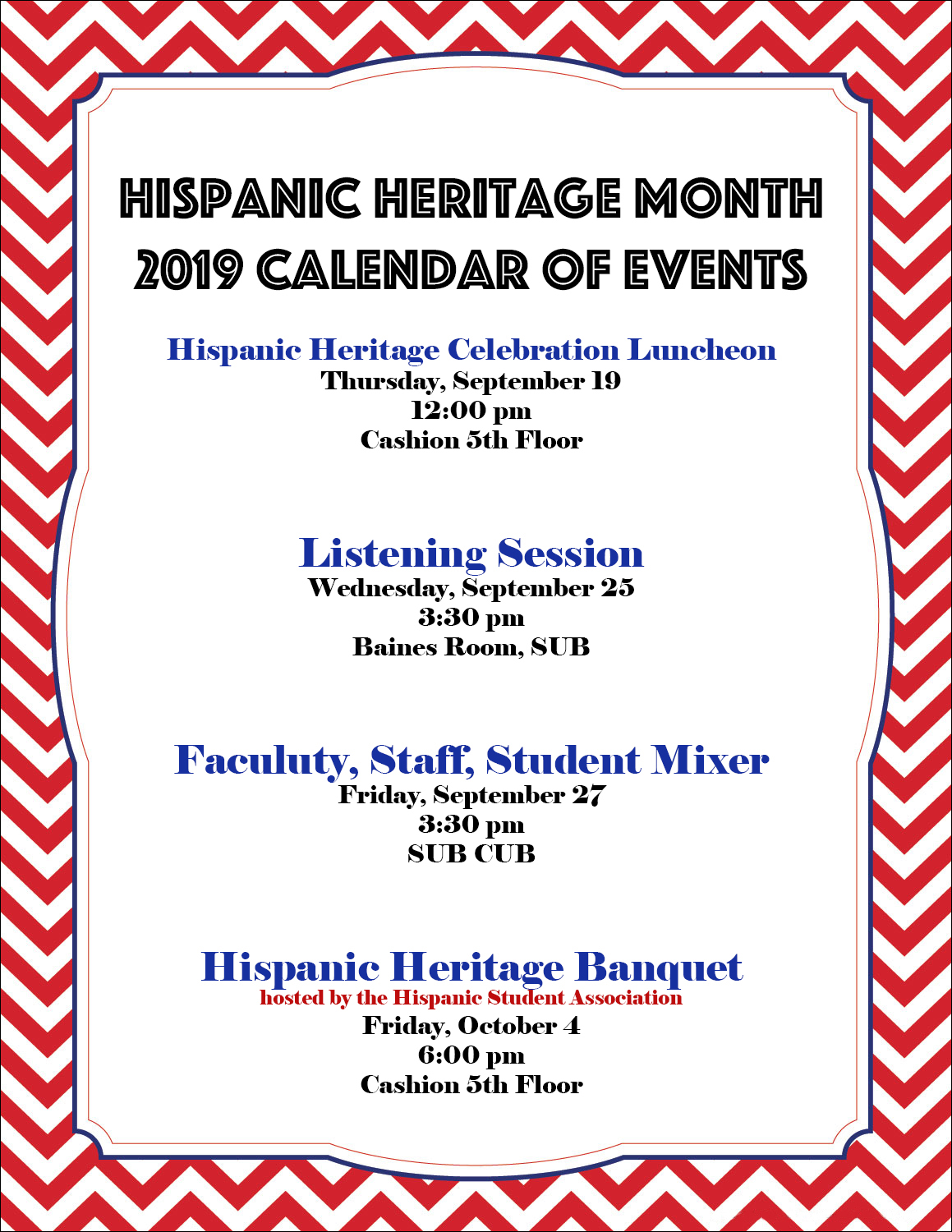 Baylor To Hold Events In Celebration Of Hispanic Heritage