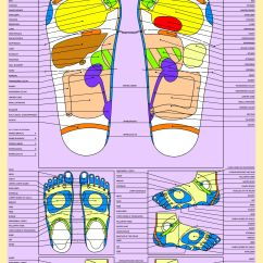 Reflexology Foot Diagram Reflex Zones Subwoofer Wiring For 6 Subs Large Colour Chart Of Areas The Feet 20 Quotx30 Quot
