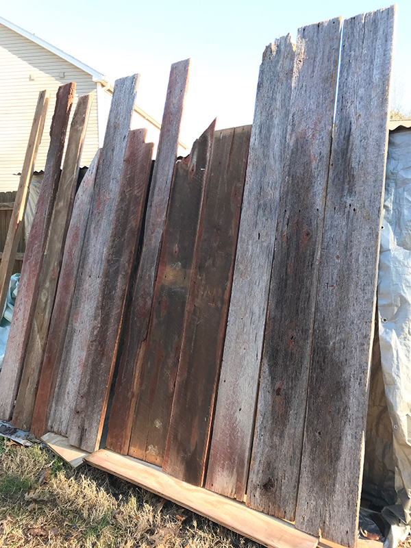 wall of barn wood