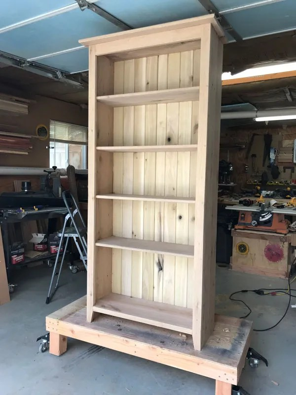 Unfinished Oak bookcase