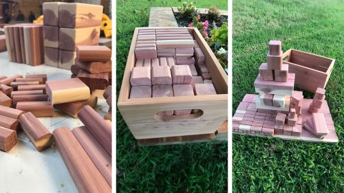 Cedar Building Blocks for Children