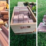 Cedar Building Blocks for Children
