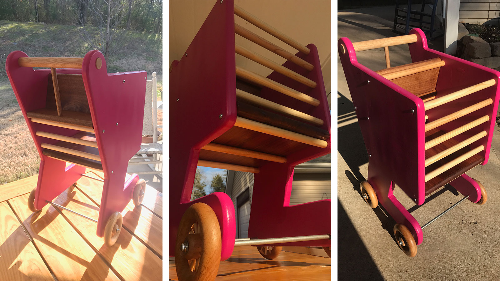 building a child's wooden shopping cart | bayne custom