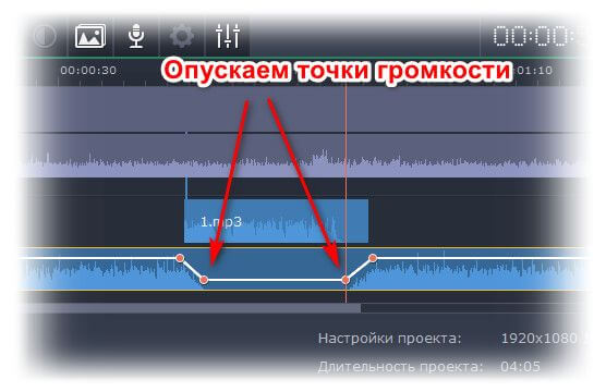Звук в Movavi Video Editor Plus