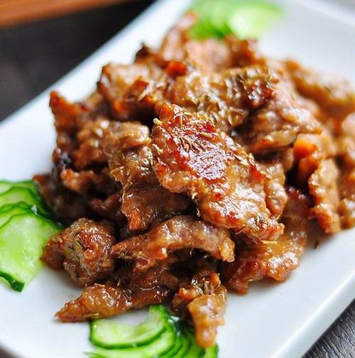 жаренное мясо