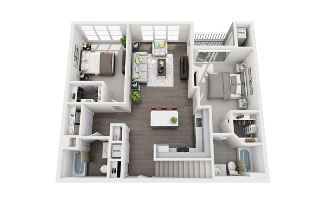 B1 Loft 1 2 And 3 Bedroom Apartment