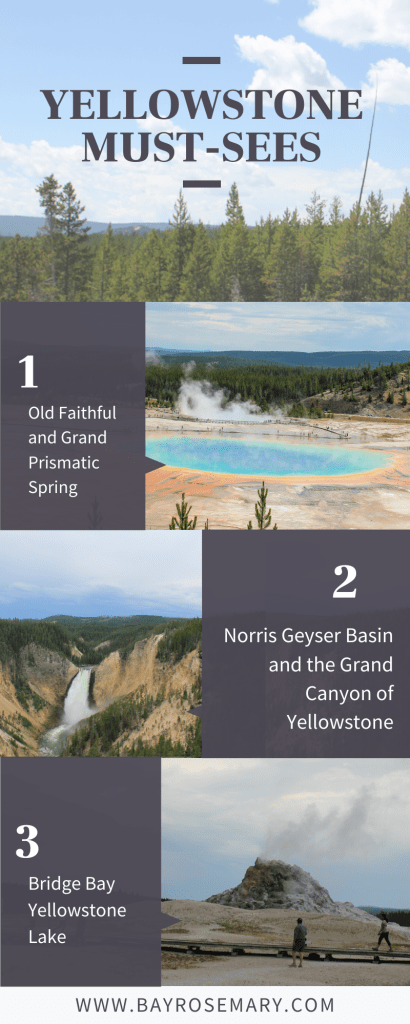 Must-sees in Yellowstone National Park