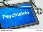 Tablet mit dem Fachgebiet Psychiatrie auf dem Display